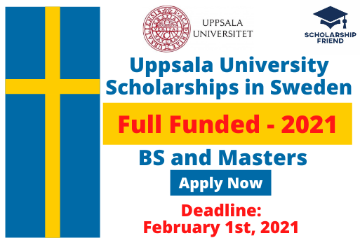 Uppsala University Scholarships - Full Funded - Sweden - scholarship Friend - 2021 - BS and Masters