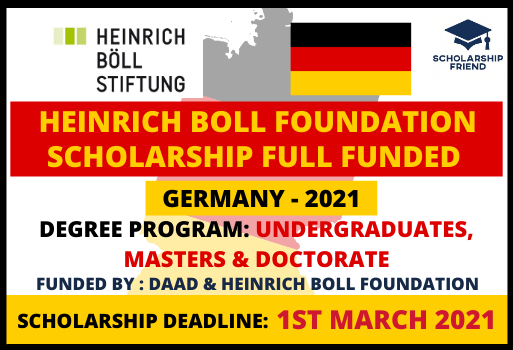 Heinrich Boll Foundation Scholarship in Germany 2021 fully funded - Scholarship Friend