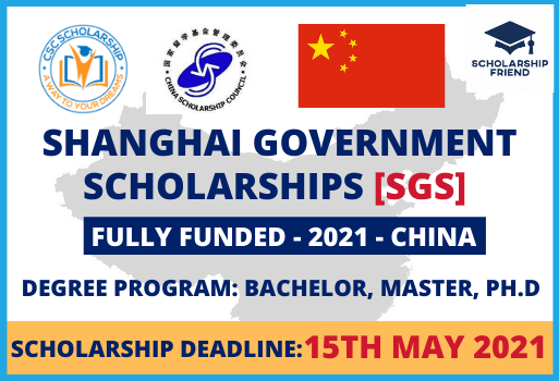 Shanghai Government Scholarships [SGS] in China Full Funded 2021 - Scholarship Friend (1)