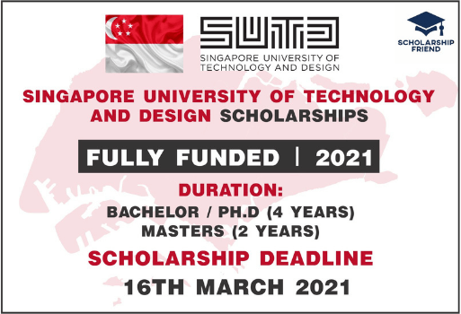 Singapore University of Technology and Design Scholarships-Full Funded-2021-Scholarship Friend (1)