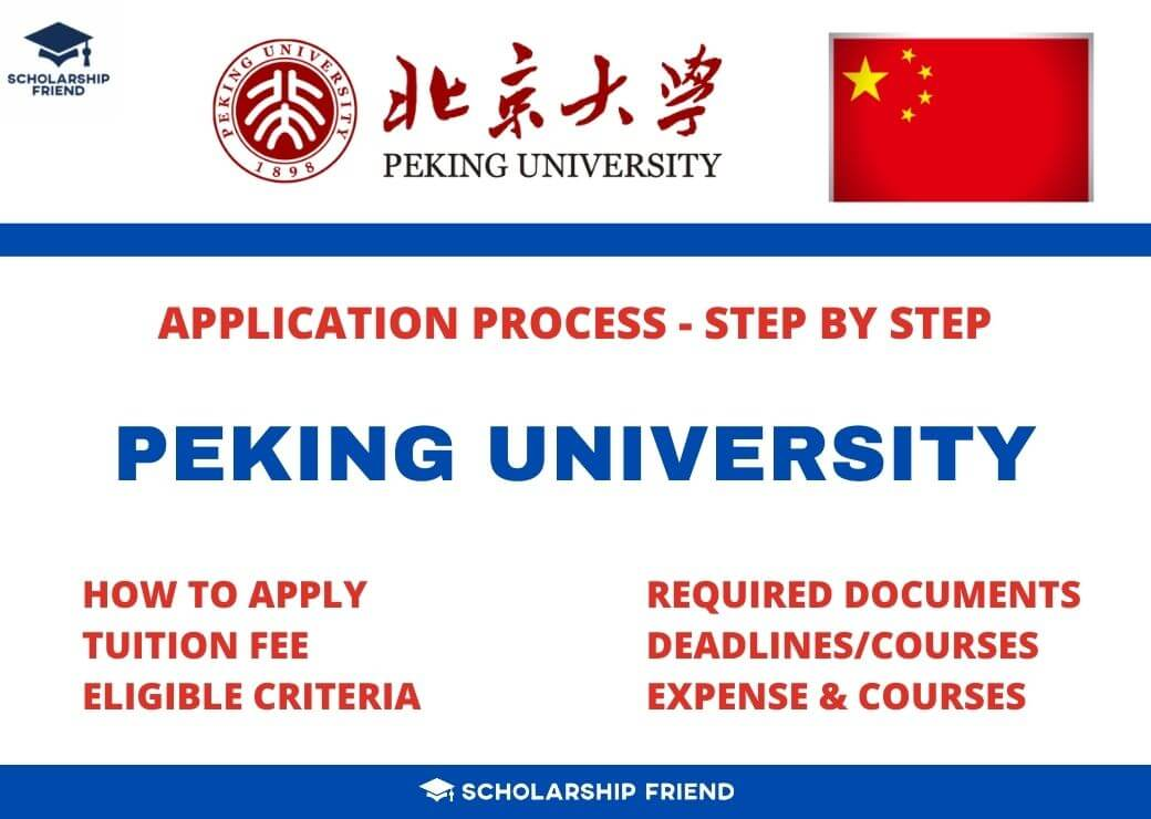 Peking University Application Process Complete Step by Step 2021/2022 - Scholarship Friend