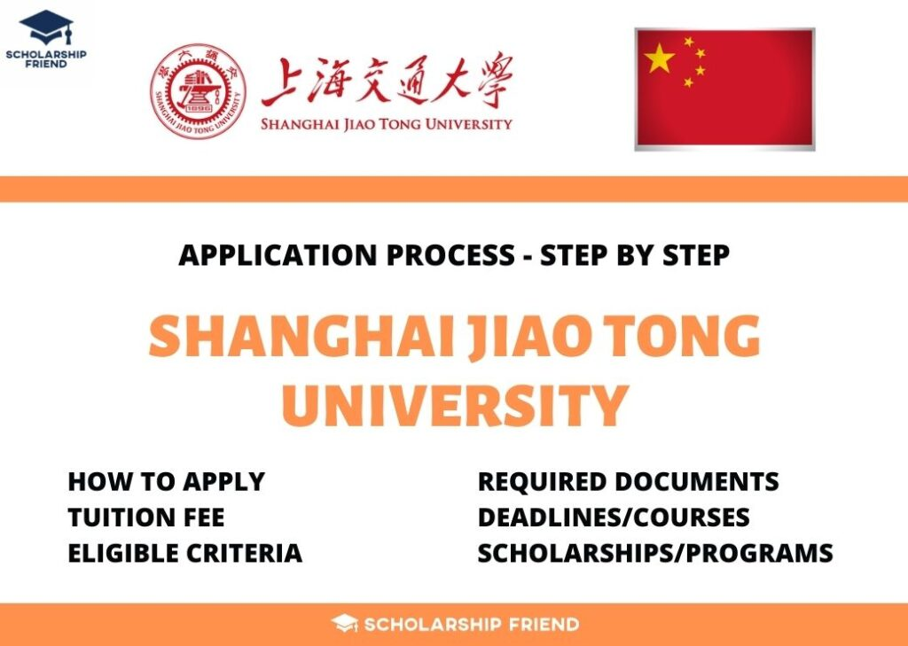 Shanghai Jiao Tong University – Application Process, Fee, Criteria in 2021/2022