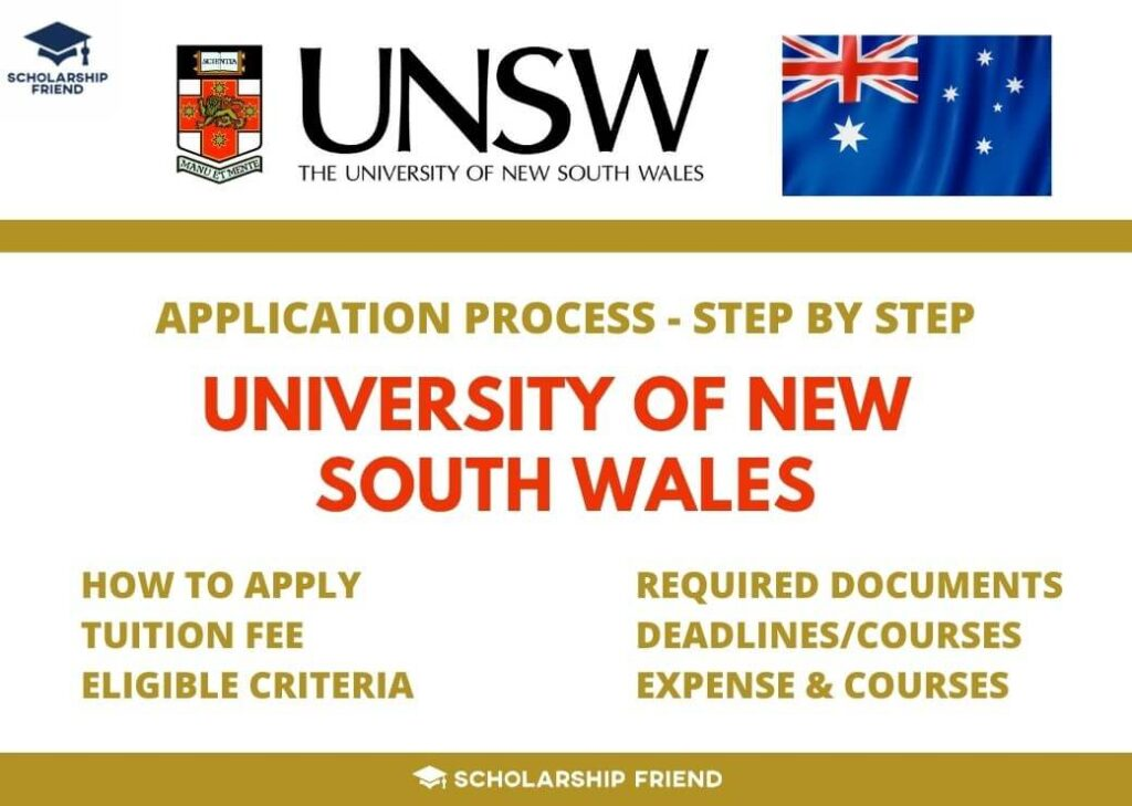 University of New South Wales Application Process Details 2021 - Scholarship Friend