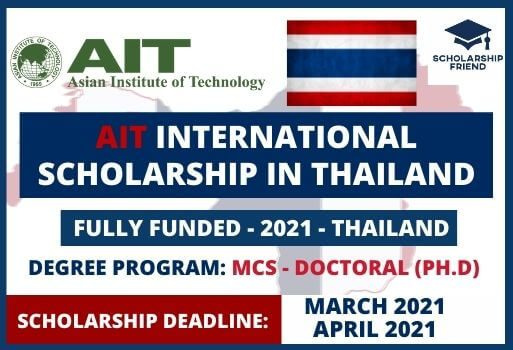 AIT International Scholarship in Thailand - Scholarship Friend