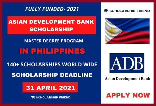 Asian Development Bank Scholarship 2021 Scholarship Friend