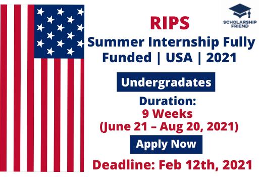 RIPS Summer Internship Fully Funded - USA - 2021 - Scholarship Friend - International Internship - Undergraduates (1)