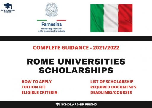 Rome Universities Scholarships in Italy – Complete Guidance 2021-2022
