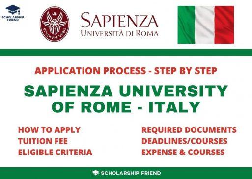 Sapienza University of Rome Application Process Step by Step 2021 & 2022 - Scholarship Friend